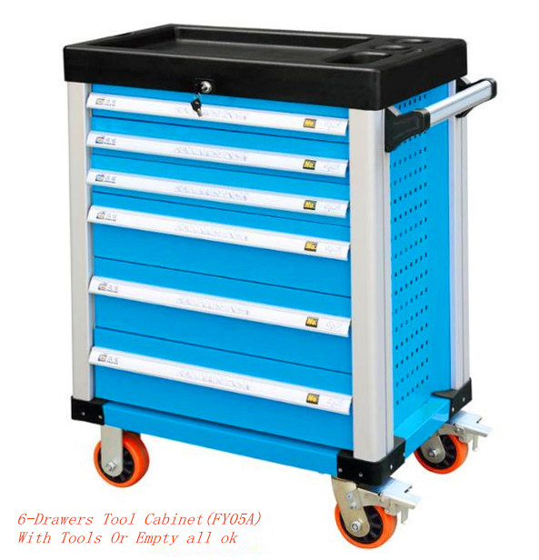 6 layers professional trolley tool cabinet