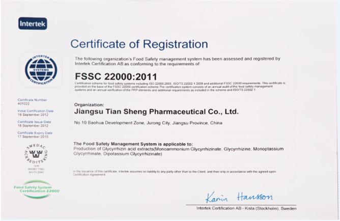 FSSC Certification