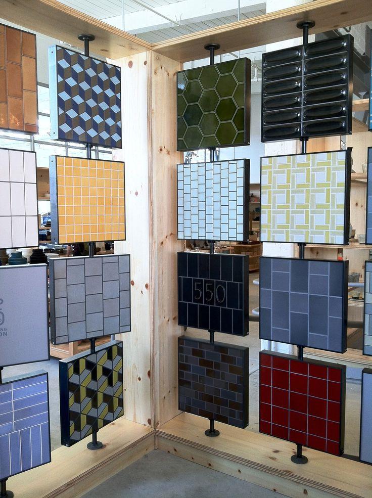 Tile quartz stone showroom display stand