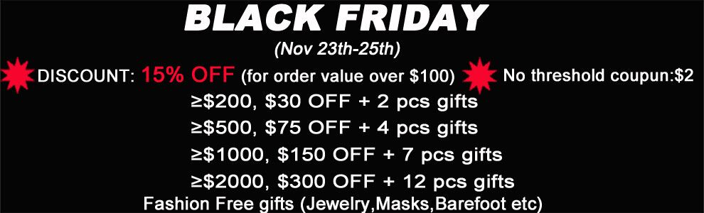 Black Friday 15% discount for order value over 100$