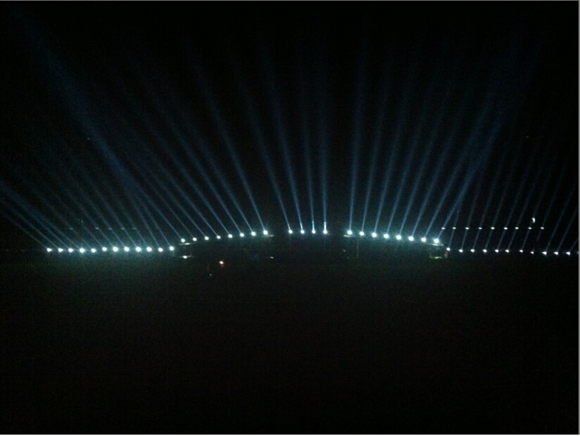 Sharpy 200 moving head stage light used for Fire project in France