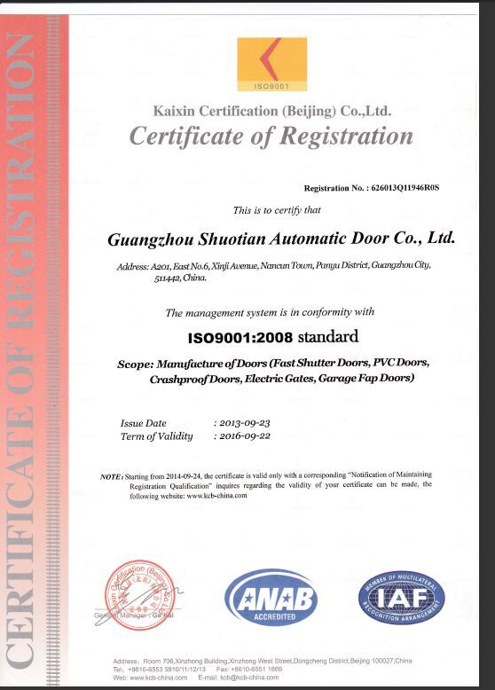 Company Certification ISO 9001