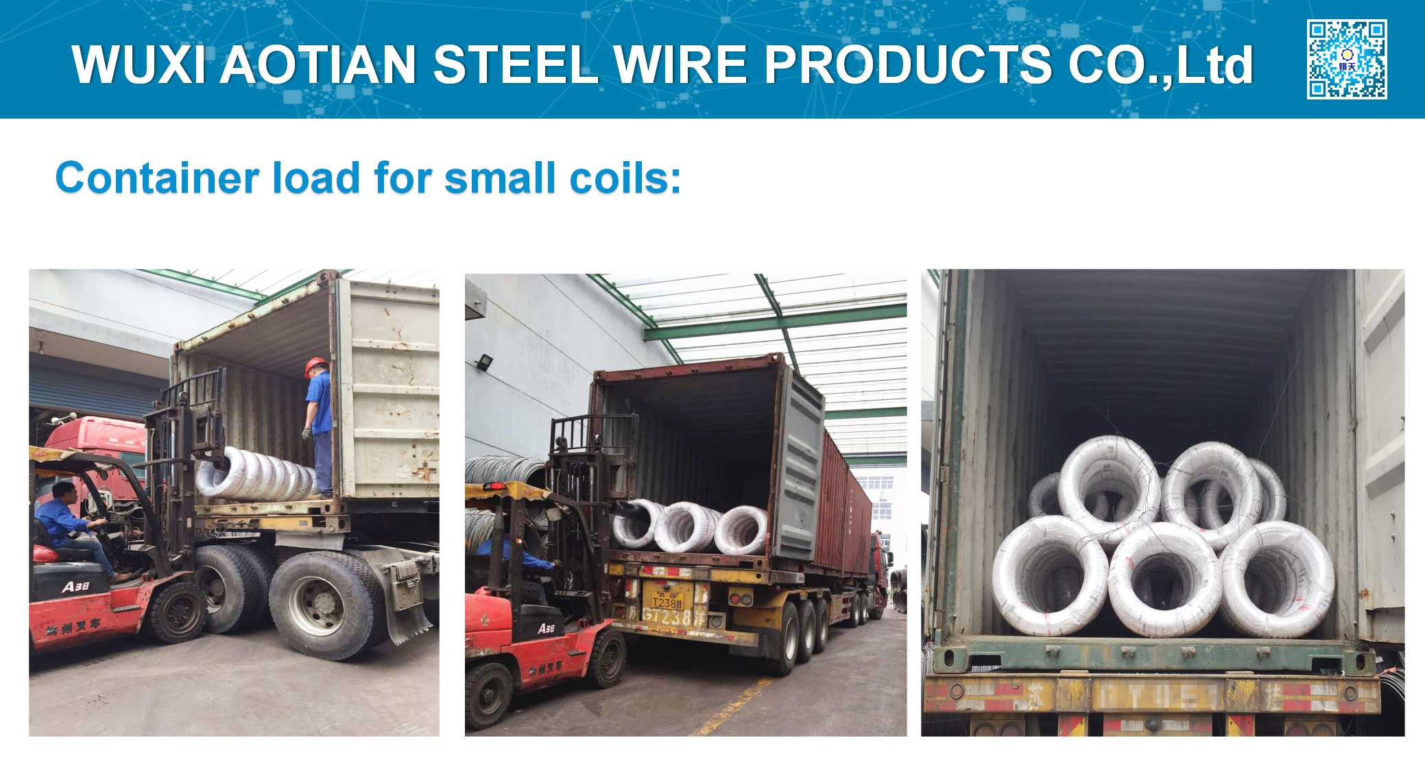 Container load for small coils