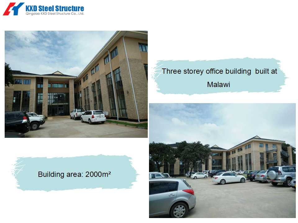 Three storey office building built at Malawi