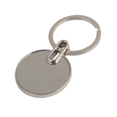 simple round metal keychain with custom logo