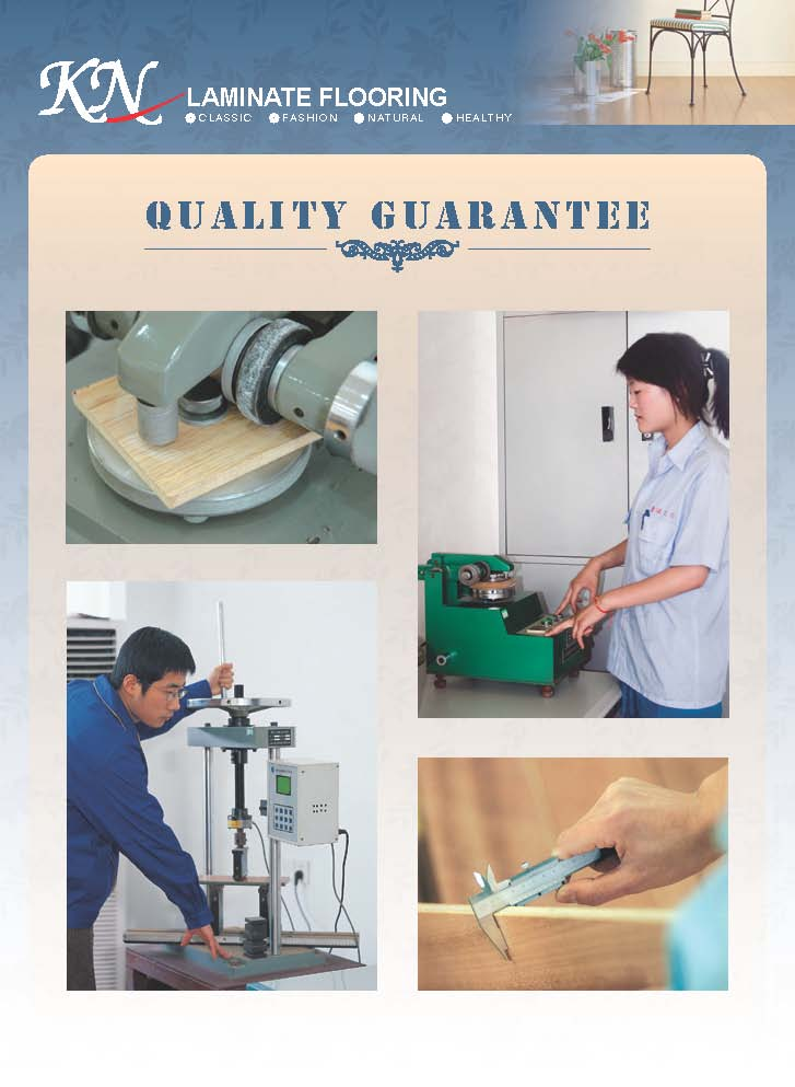 Quality Guarantee for Laminated Flooring