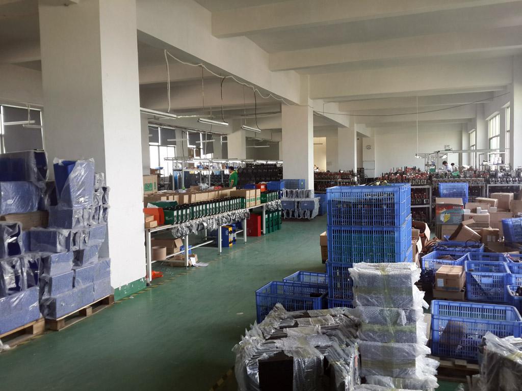 work shop for assembling machine