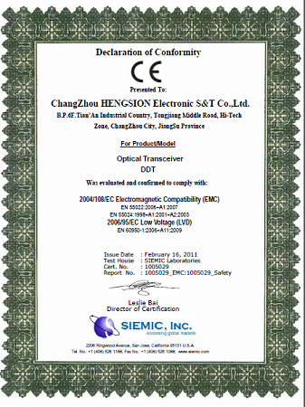 CE certificate of DDT series