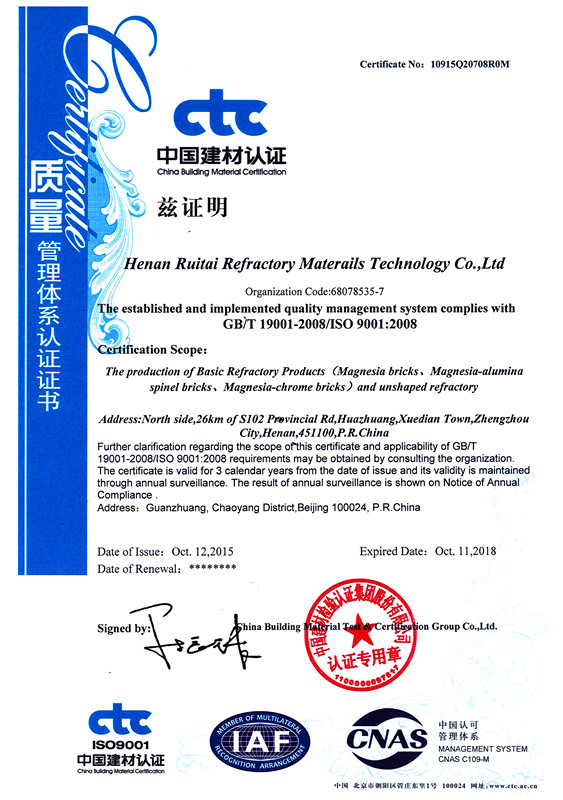 Quality Control ISO 9001-2008