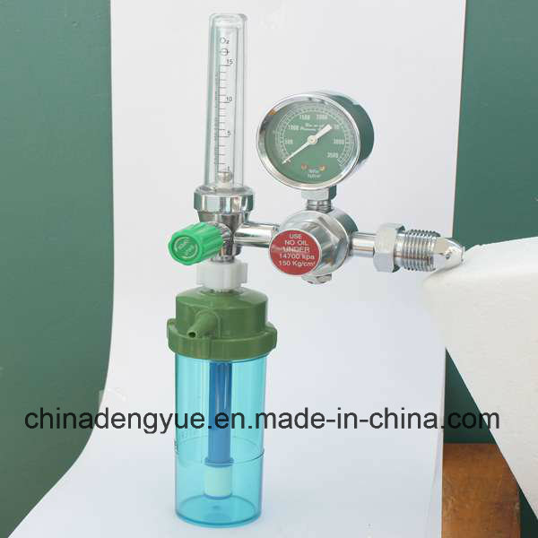 Medical Oxygen Regulator with Humidifier and Flow Meter