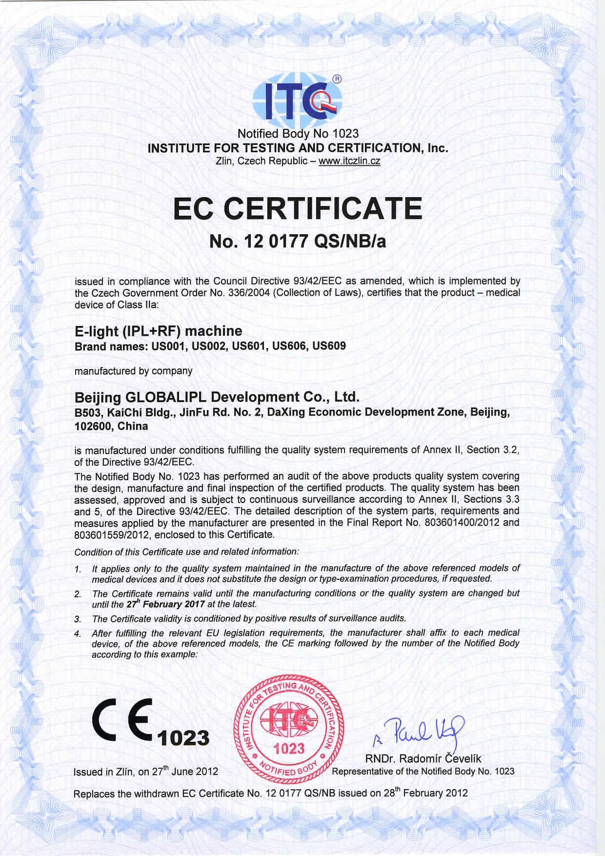ITC CE-93/42/EEC