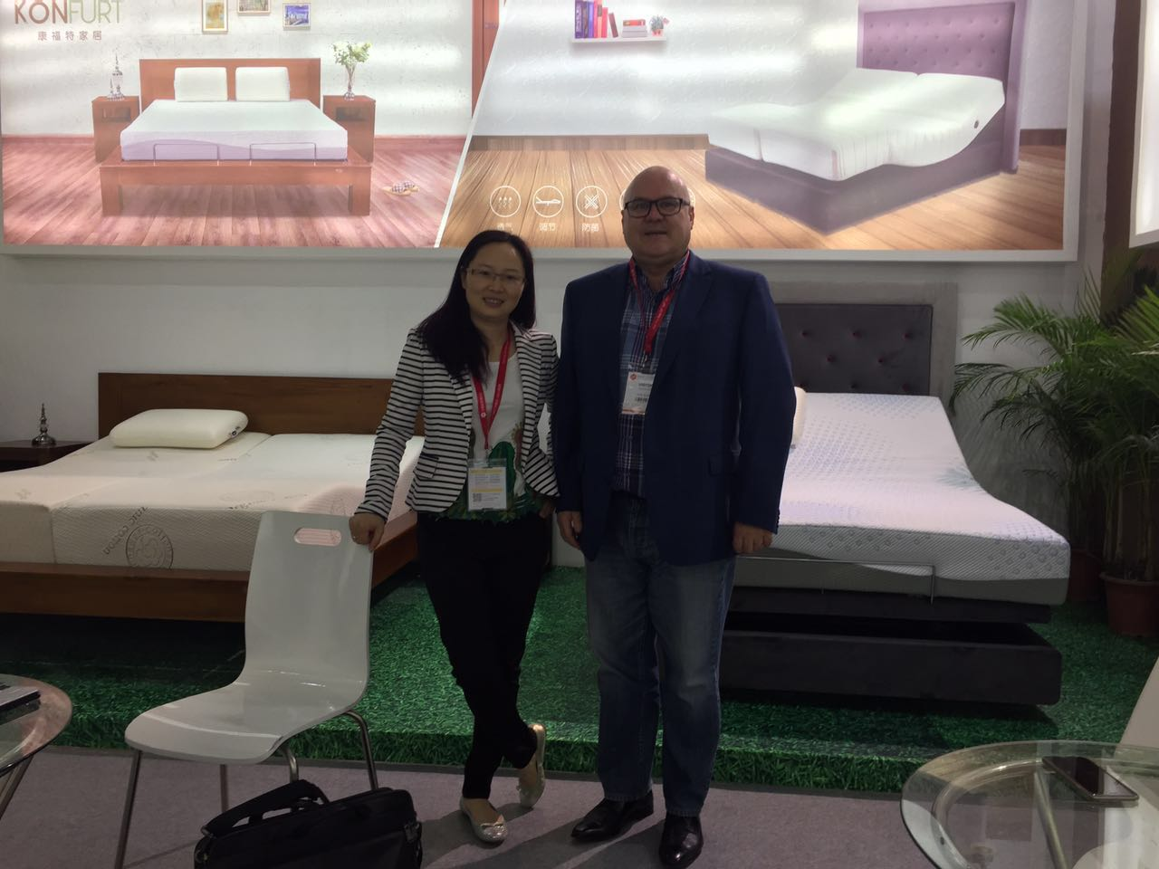 2017 furniture fair electric bed