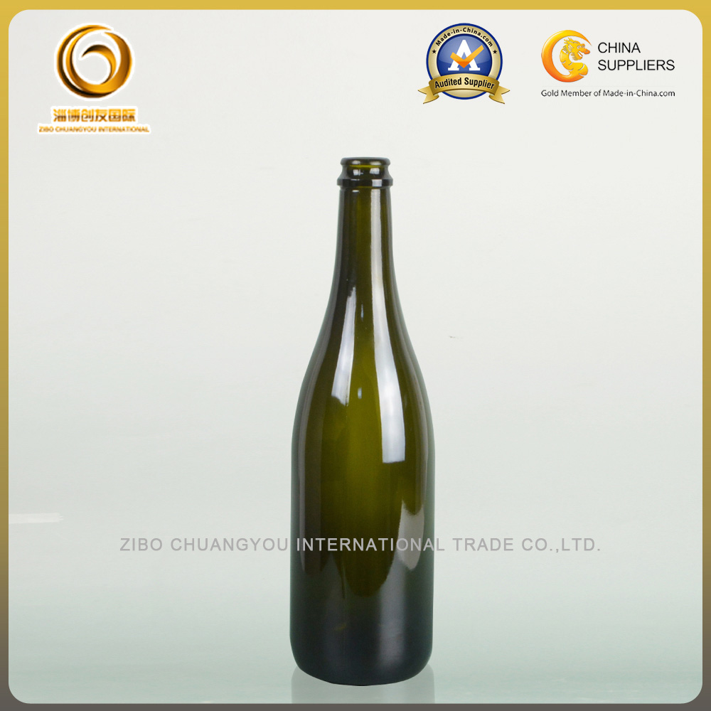 750ml glass champagne bottles