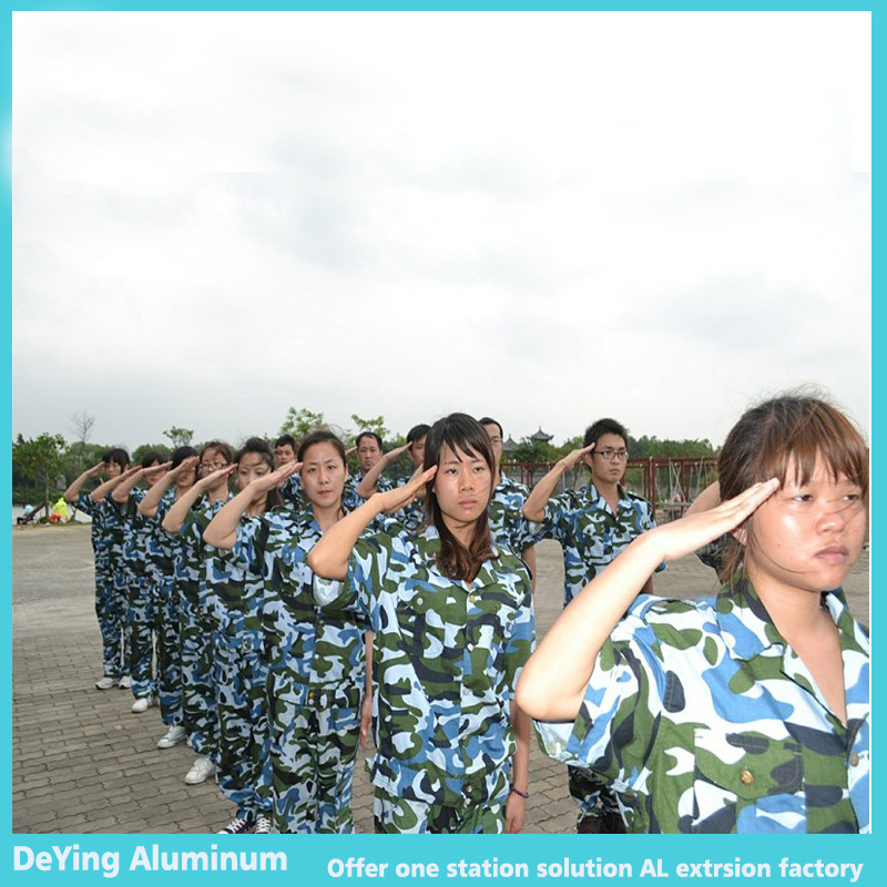 DeYing Aluminum Team had attend millitary tranining