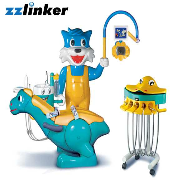 A8000-IB Kid Blue Cat Cartoon Dental Chair