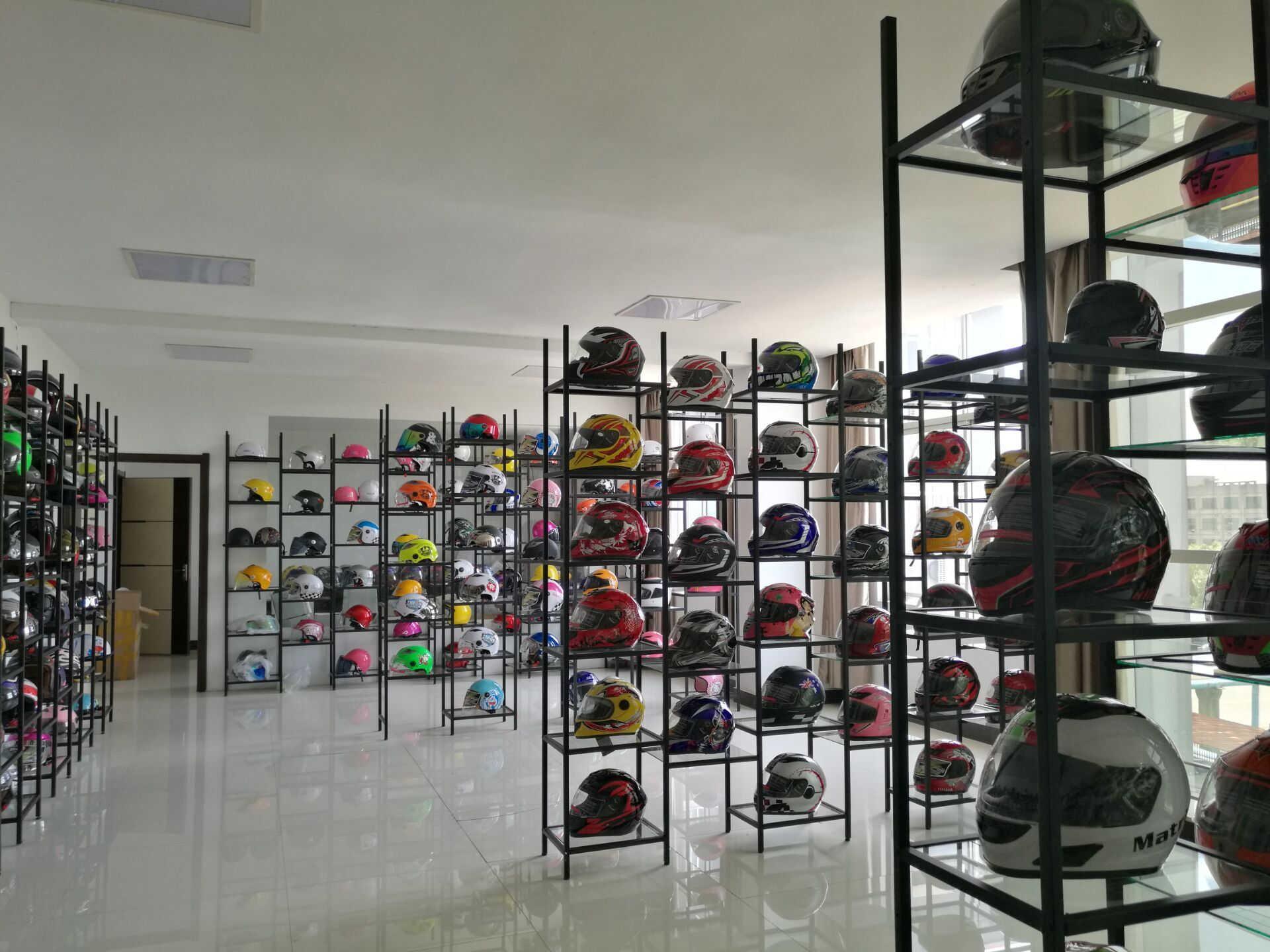 Helmets sample room