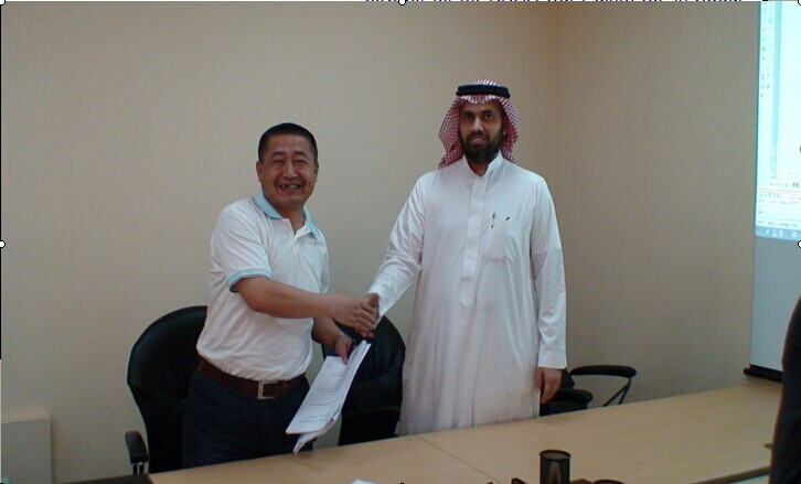 Signing the project contract with Saudi owner