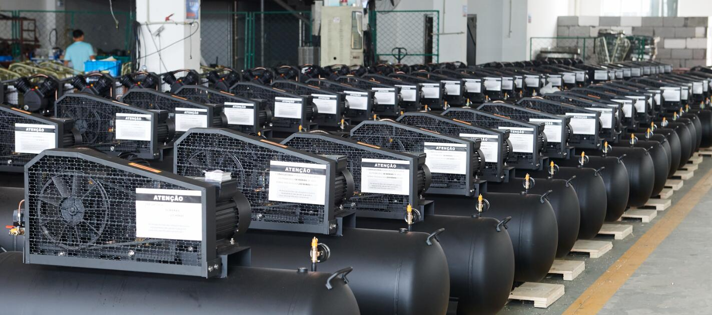 Assembly Line for Belt Driven Air Compressors
