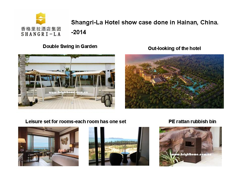 Shangri-La Hotel show case done in Hainan, China. -2014