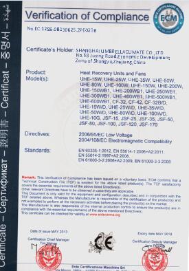 HRV/ERV Certified