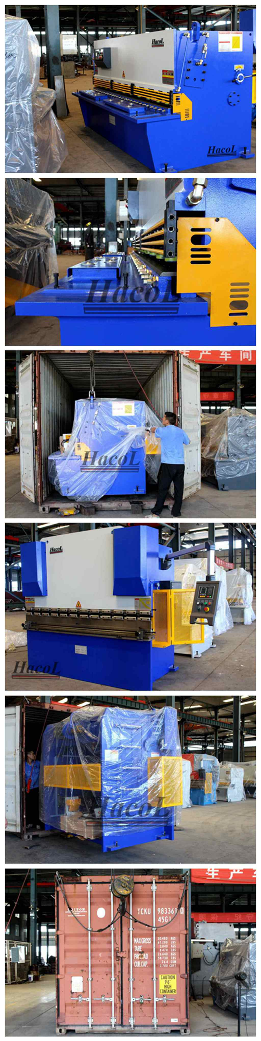 Popular models press brake and shearing machine shipped to India