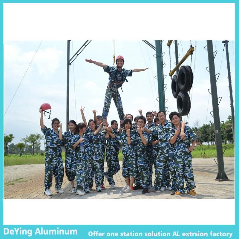 DeYing Aluminum team malitry trainning