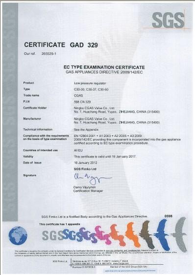 C30 certificate