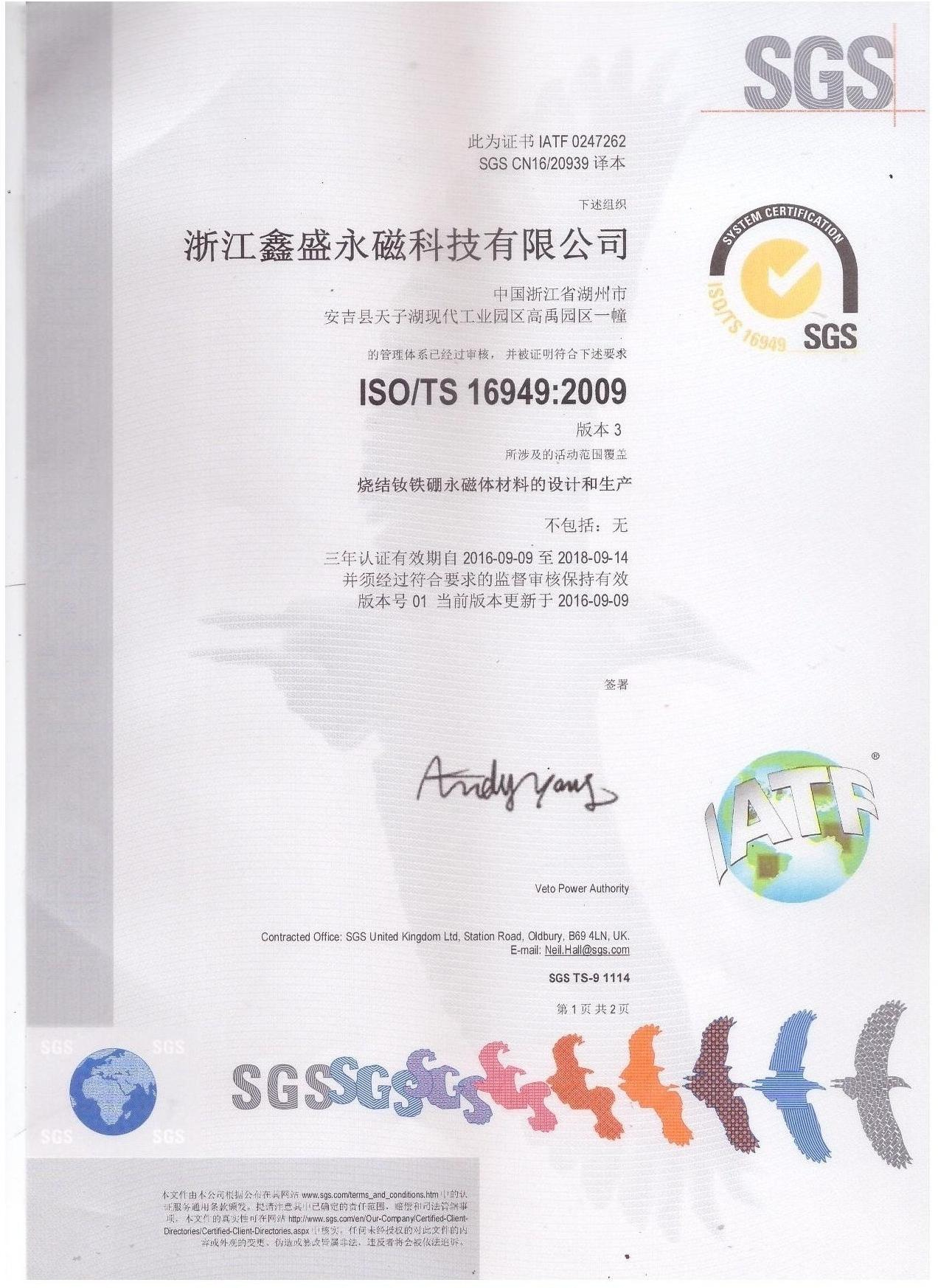 ISO-TS16949:2009 Chinese