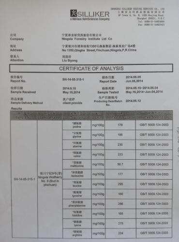 Test Report of Ningqi No.9
