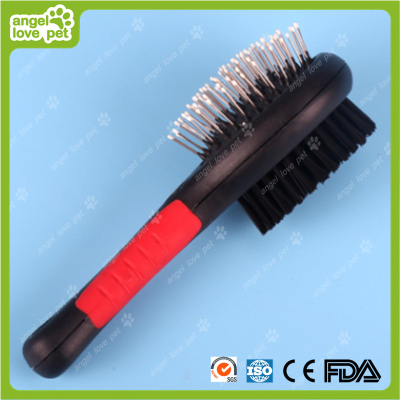 Plastic Handle Steel Pins Pet Brush