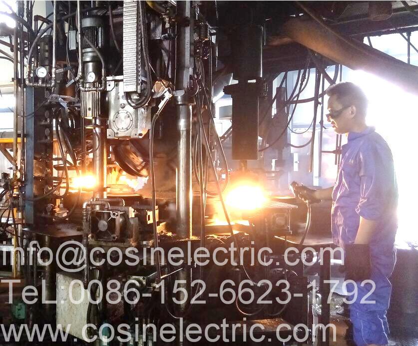 glass insulator producing line