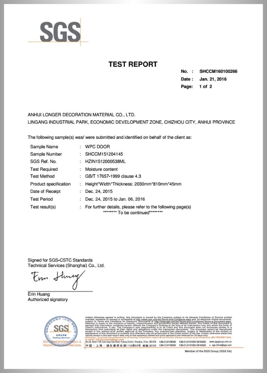 Moisture test