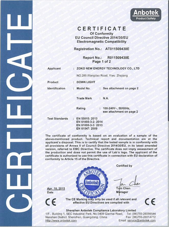 LED downlight CE certification-LVDS