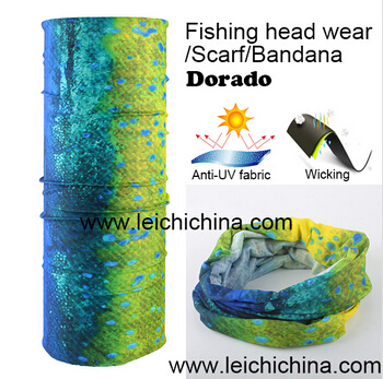 anti UV wicking Dorado fishing head wear scarf bandana