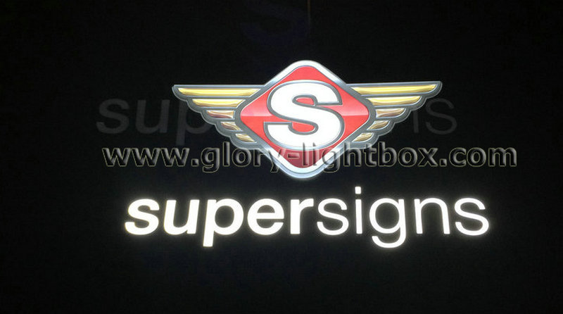 LED lighting in-regular wall-mounted shop signs