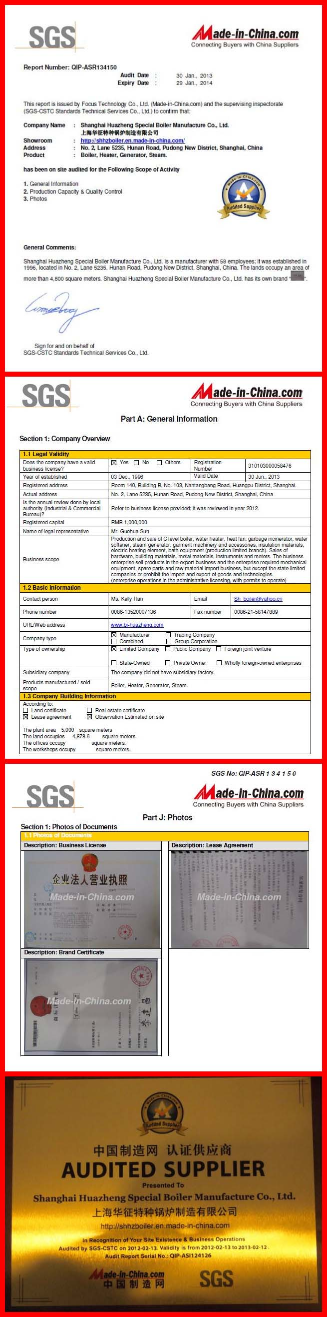 Audited by the SGS Group