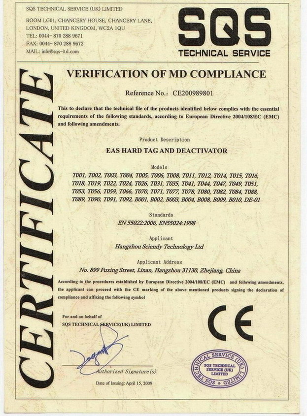 Verification of Md Compliance