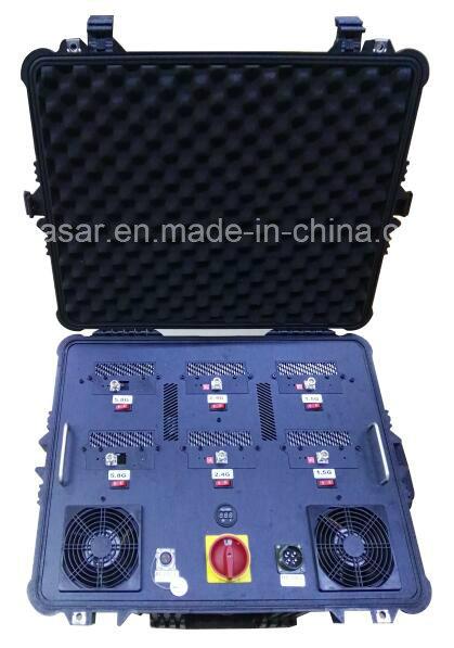 6CH 520W Draw Bar Protable UAV Drone Jammer
