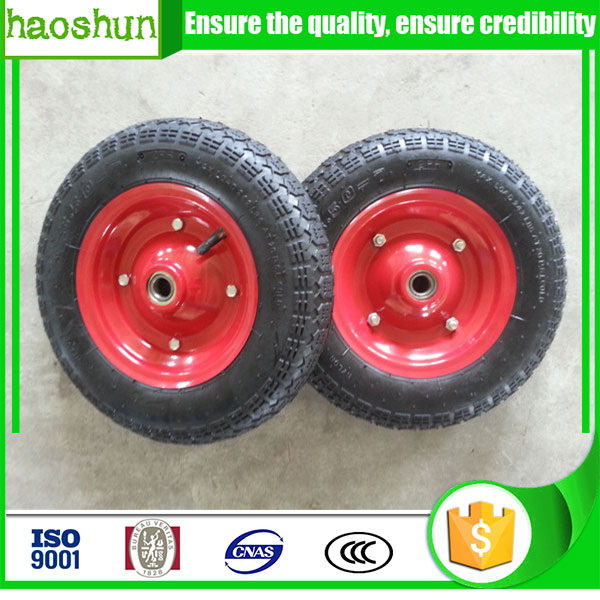 Lowest price rubber wheel 3.50-7 wheelbarrow wheel