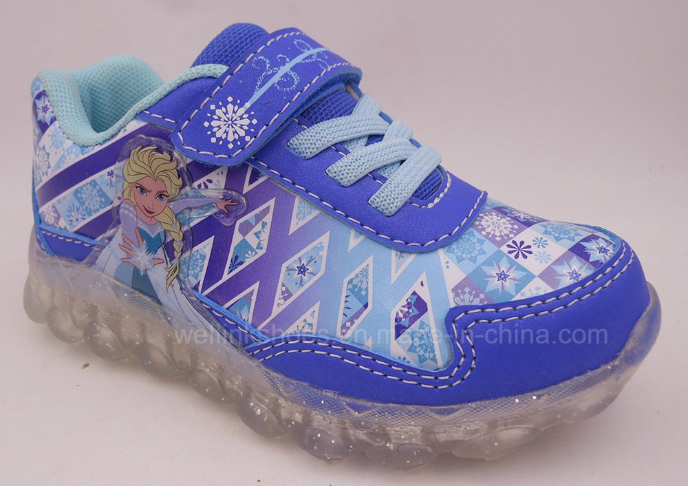 WLX-20160909 Frozen Light Sports Shoe for Girls