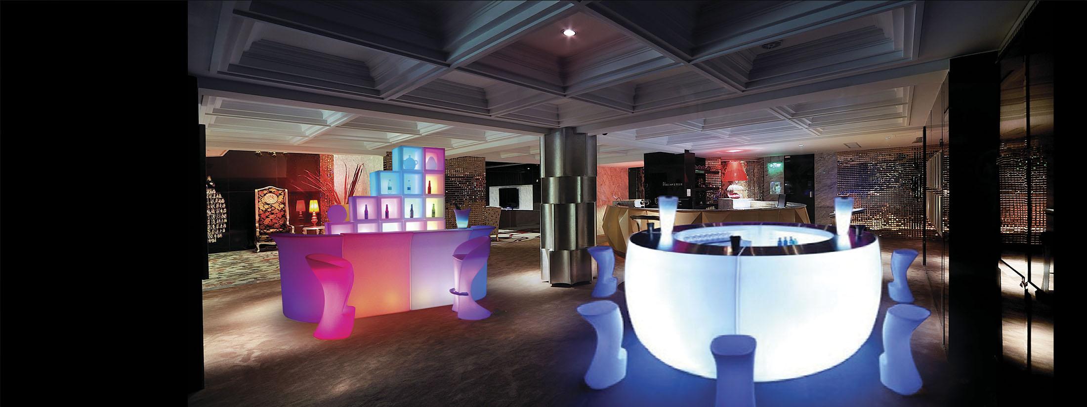 led bar furniture counter table