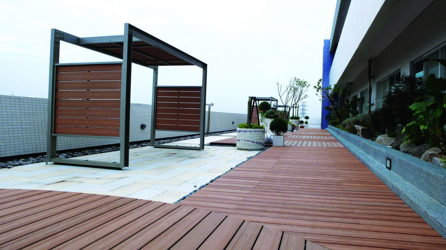 Wood Plastic Composite wpc decking Flooring Tile