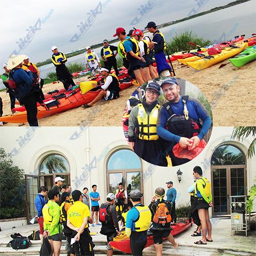 ACA grade kayak paddling traning pictures