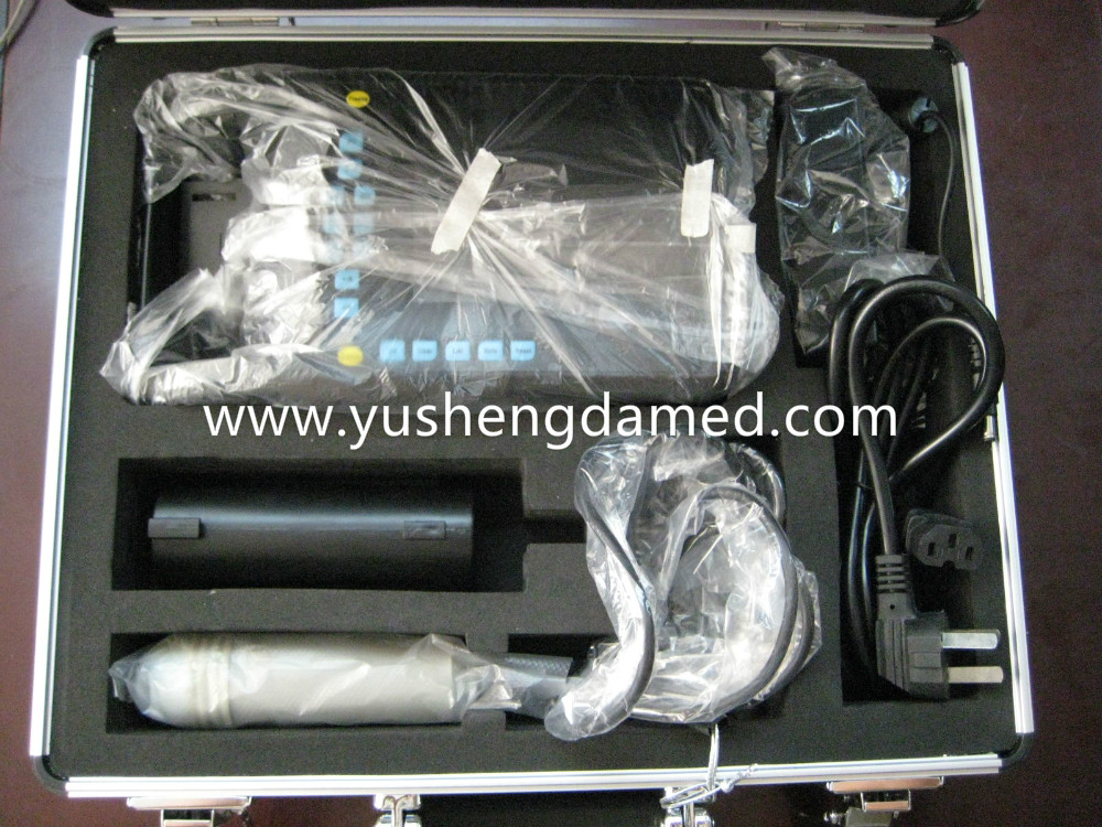 Palm-mode ultrasound scanner packing