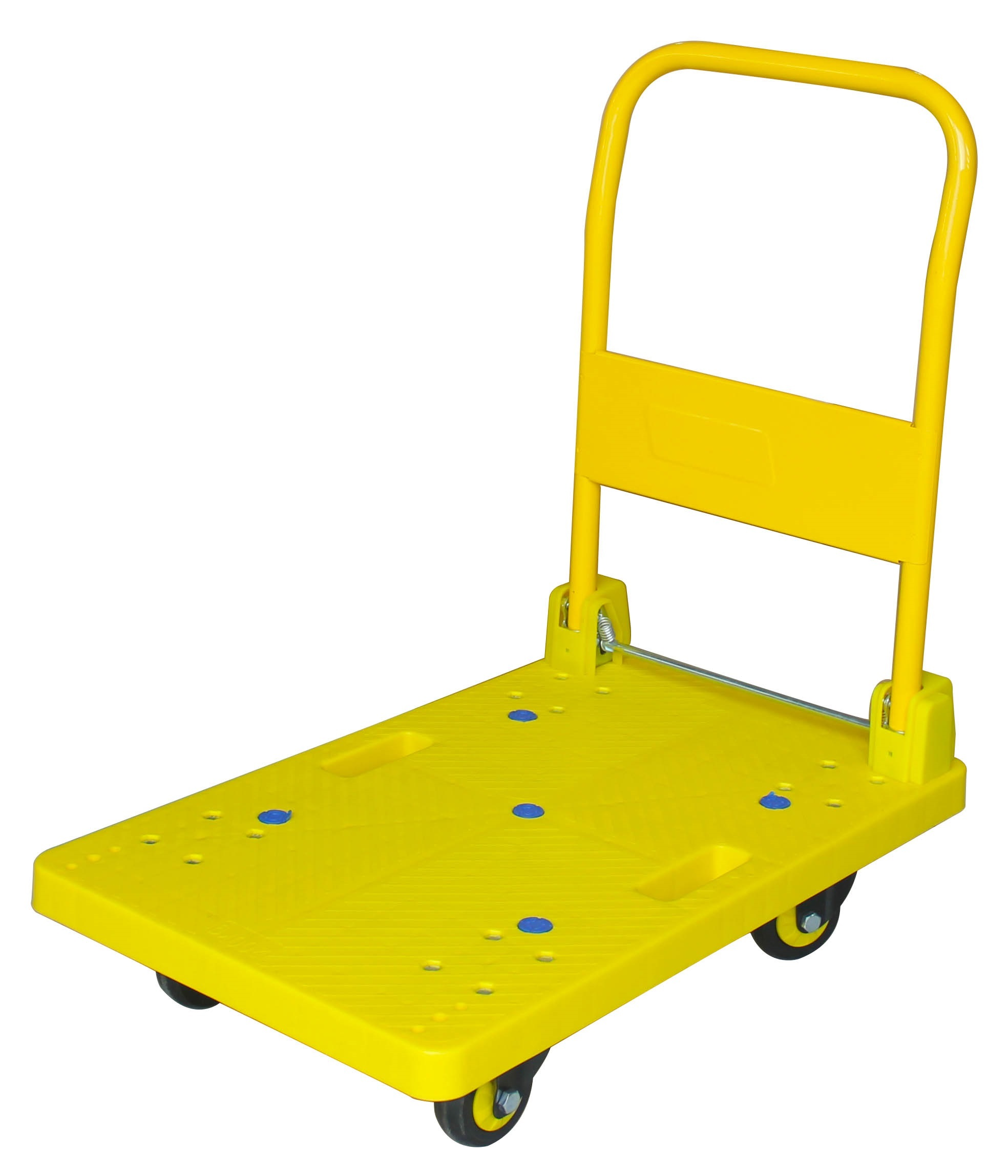 200kg Yellow Color Platform Hand Truck With Noiseless Wheels