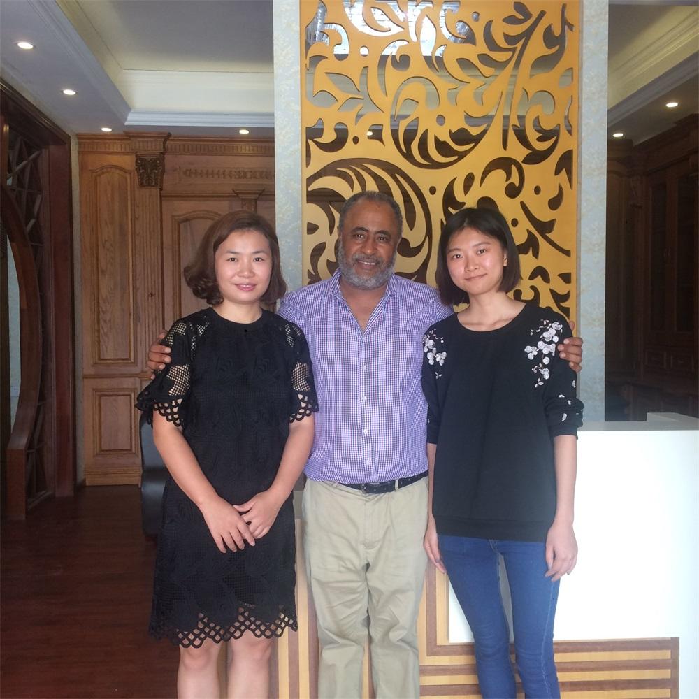 Asia Customers visiting GOSSPO wooden doors factory