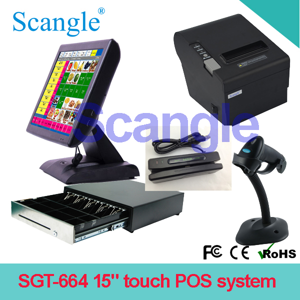 Hot seller Stylish 15inch touch all in one POS terminal /POS system/ POS computer