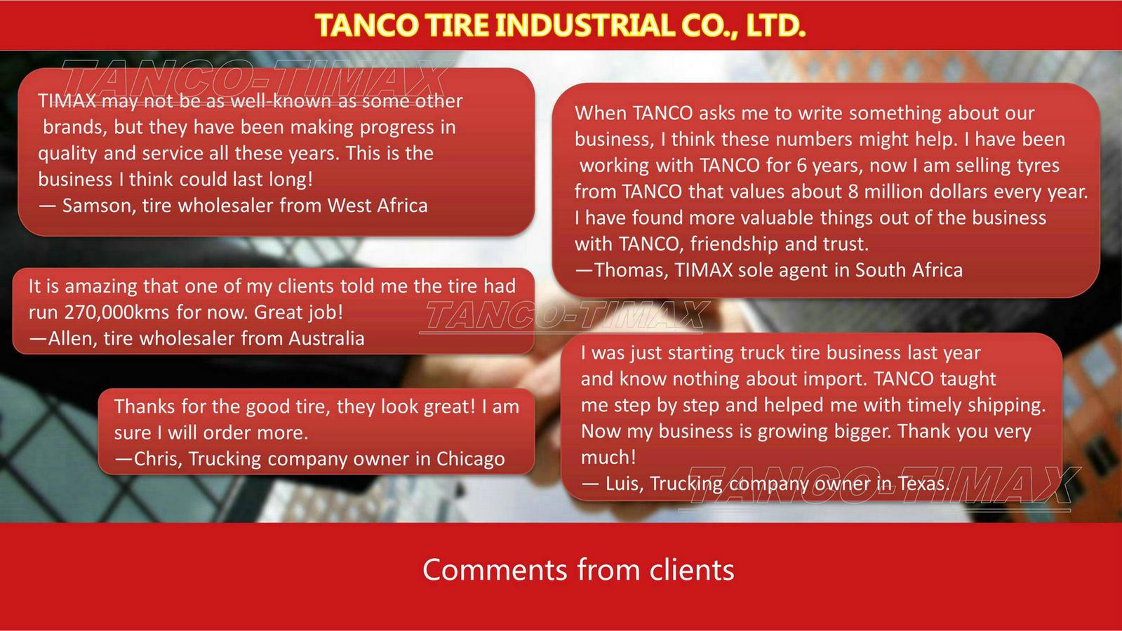 19. Clients' feedback
