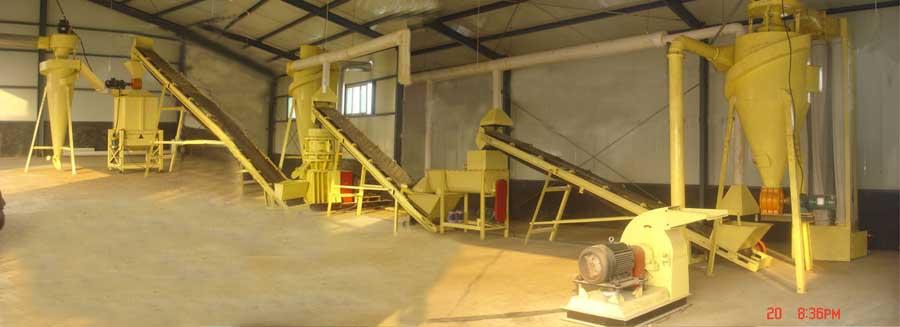 Dezhou simple biomass pellet making line( 800kg/h)