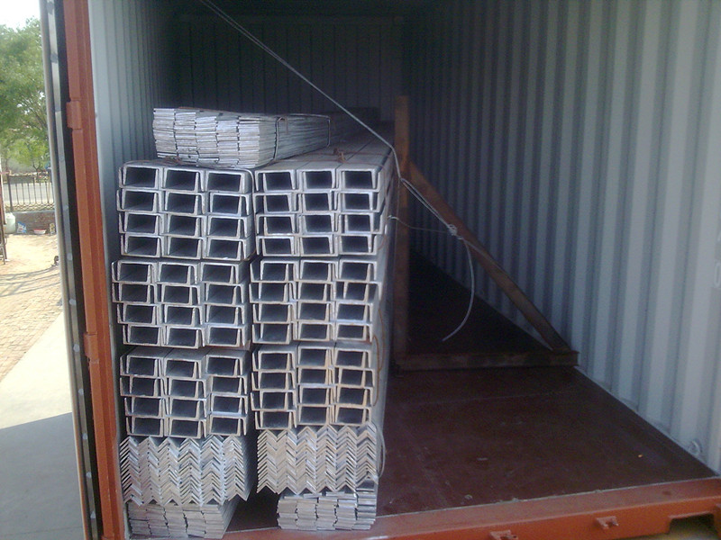 6meters of Channel steel/Angle steel/Flat steel filled in 1x20' container